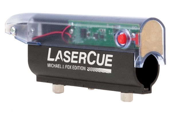 the LaserCue with logo