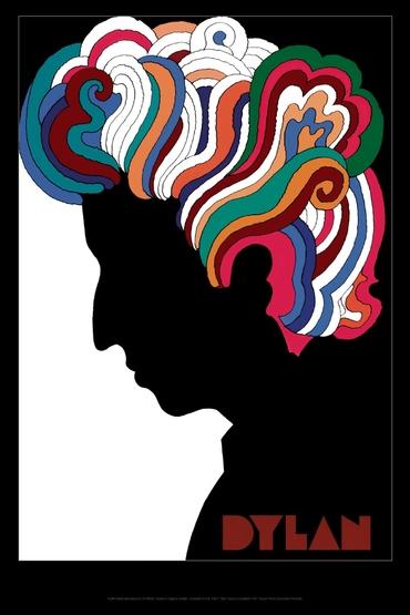 Milton Glaser's iconic poster of Bob Dylan
