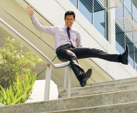 website as easy as sliding on a handrail