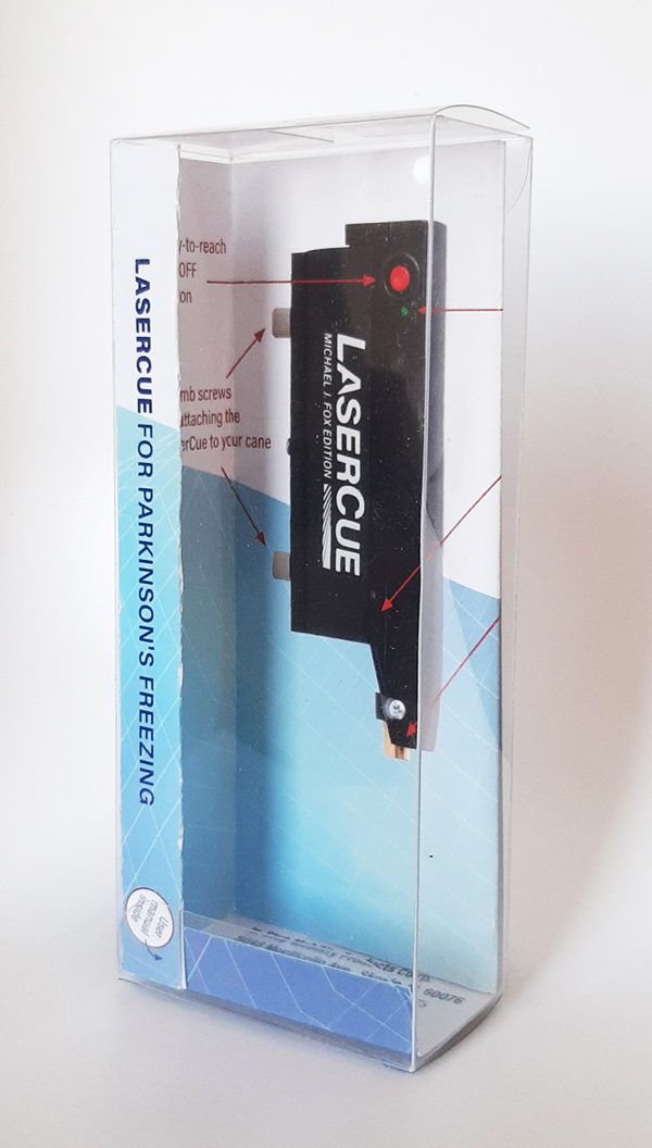lasercue clear plastic packaging